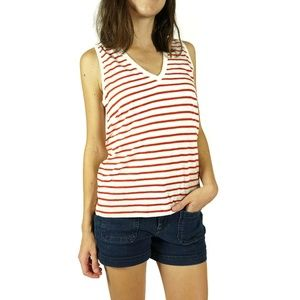 NEW Madewell Cotton V Neck Tank Top Size Large